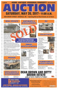 SOLD Dean Brown and Betty Brown Estate Auction Bill 3 2017